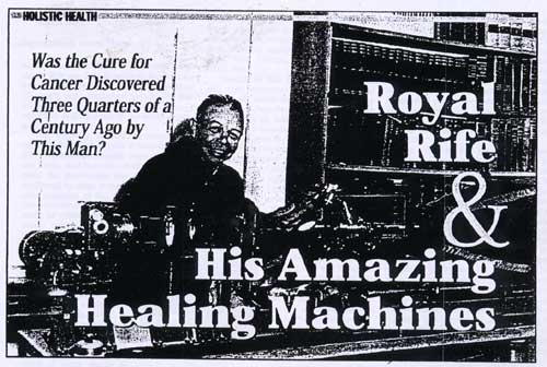 royal rife frequency machine